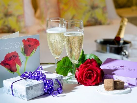 Prosecco, Organic Chocolate Truffles & a Single Red Rose