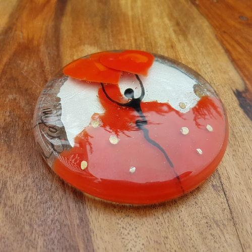 Balloon Paperweight - Orange & Silver