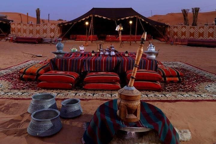 Bedouin camping in the desert