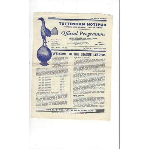 1954/55 Tottenham Hotspur v Chelsea Football Programme