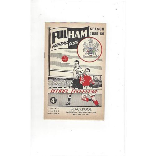 1959/60 Fulham v Blackpool Football Programme