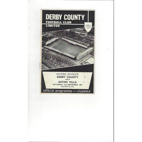 Derby County v Aston Villa 1967/68