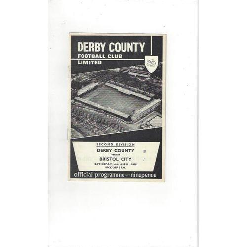 Derby County v Bristol City 1967/68