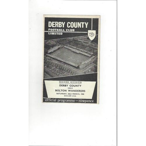 Derby County v Bolton Wanderers 1967/68