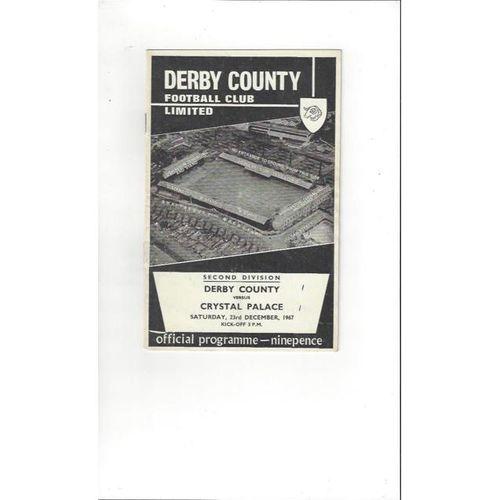 Derby County v Crystal Palace 1967/68