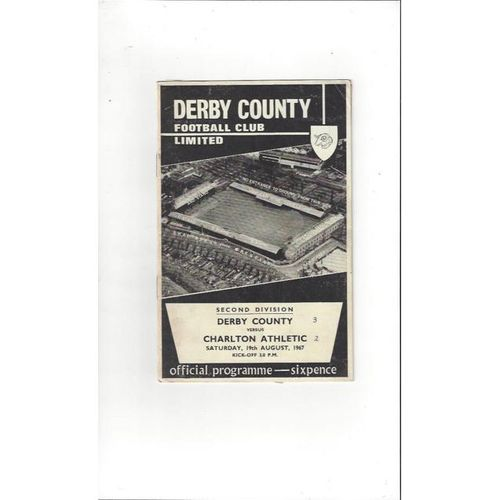 Derby County v Charlton Athletic 1967/68
