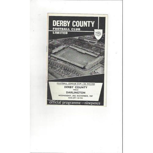 Derby County v Darlington League Cup 1967/68