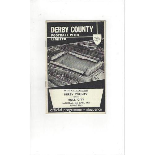 Derby County v Hull City 1967/68