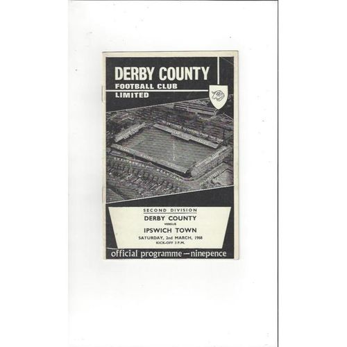 Derby County v Ipswich Town 1967/68