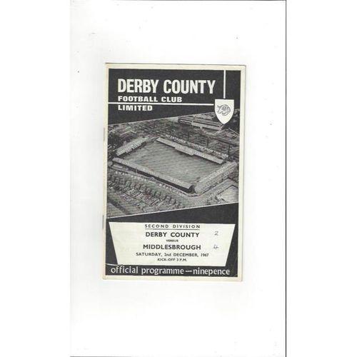 Derby County v Middlesbrough 1967/68