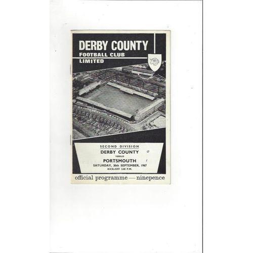1967/68 Derby County v Portsmouth Football Programme