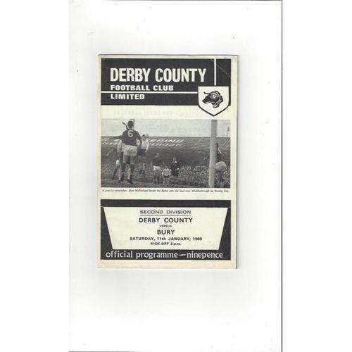 Derby County v Bury 1968/69 + League Review