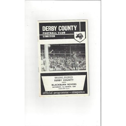 Derby County v Blackburn Rovers 1968/69