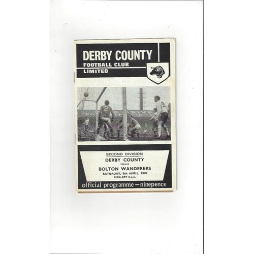 Derby County v Bolton Wanderers 1968/69 + League Review