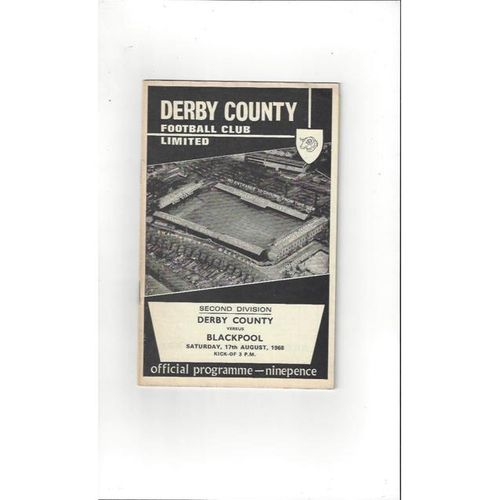 Derby County v Blackpool 1968/69 + League Review
