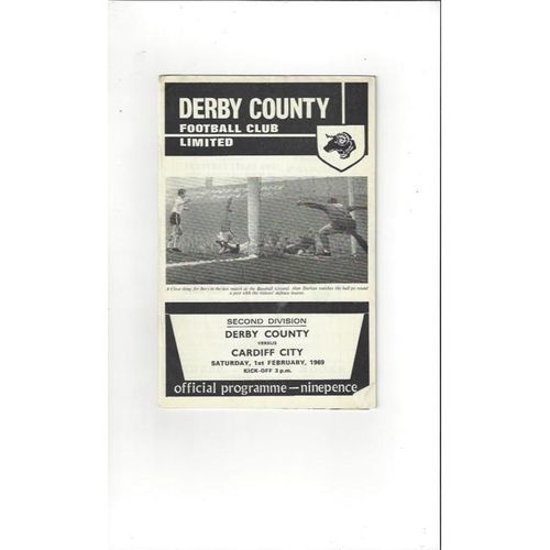 Derby County v Cardiff City 1968/69 + League Review