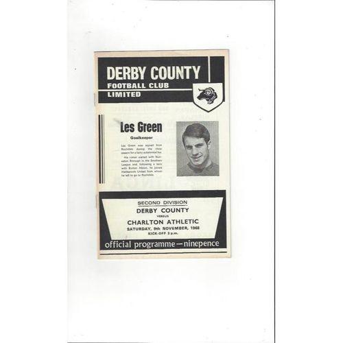 Derby County v Charlton Athletic 1968/69