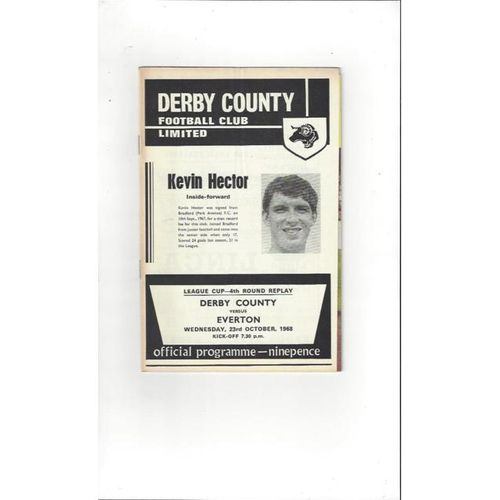Derby County v Everton League Cup Replay 1968/69 + League Review