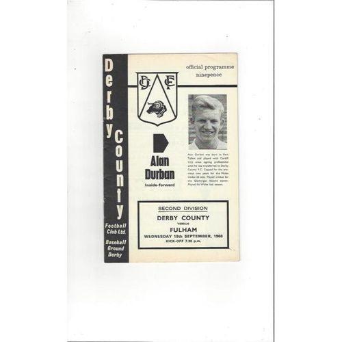 Derby County v Fulham 1968/69