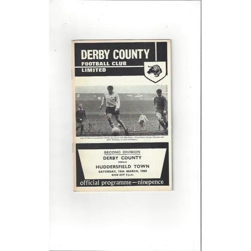 Derby County v Huddersfield Town 1968/69 + League Review