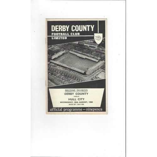 Derby County v Hull City 1968/69