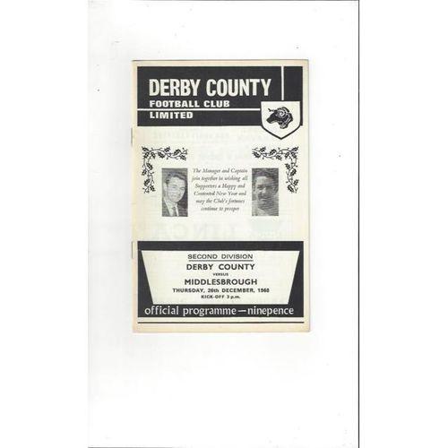 Derby County v Middlesbrough 1968/69