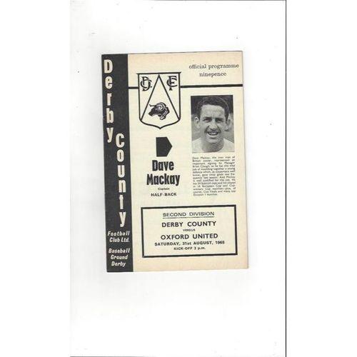 Derby County v Oxford United 1968/69