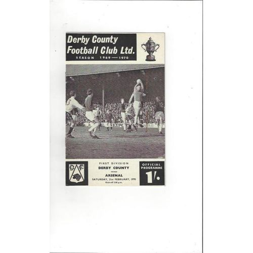 Derby County v Arsenal 1969/70