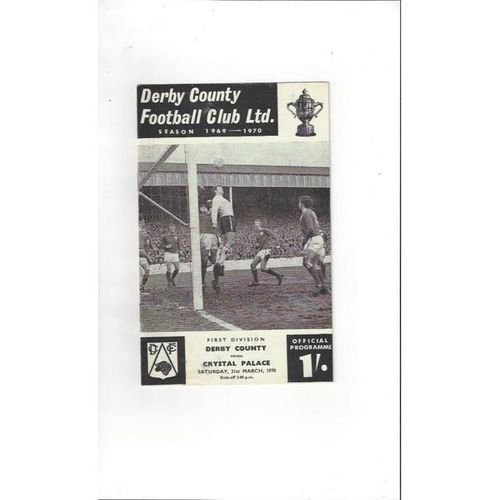 Derby County v Crystal Palace 1969/70