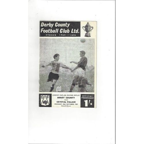 Derby County v Crystal Palace League Cup Replay 1969/70 Oct. 20th