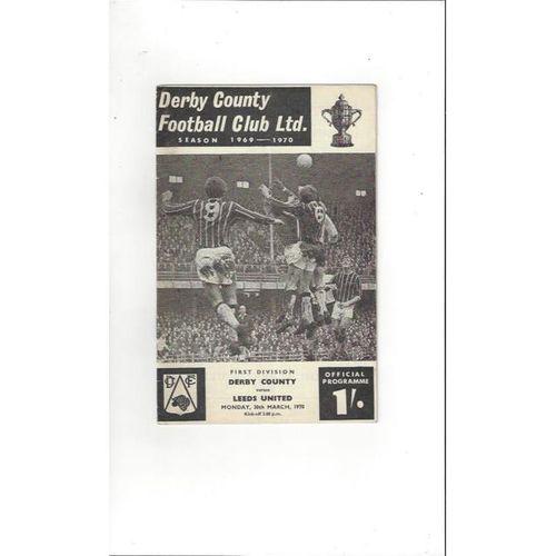 Derby County v Leeds United 1969/70