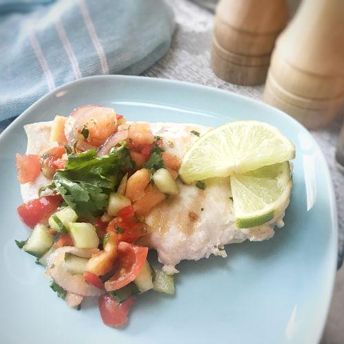 Griddled Chicken with Papaya Salsa