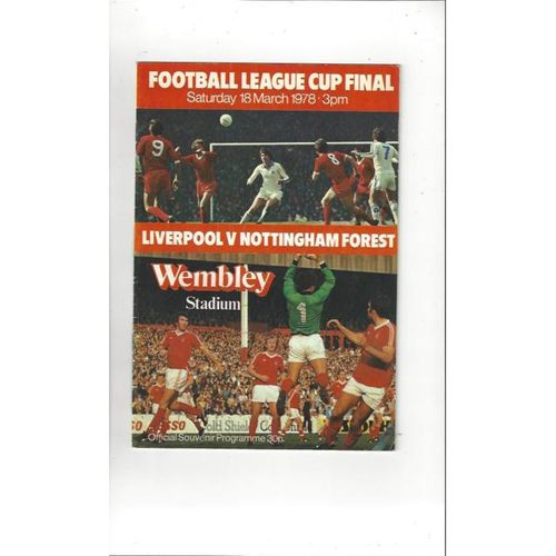 Liverpool v Nottingham Forest League Cup Final 1978