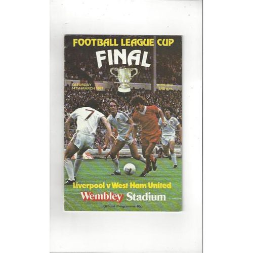 Liverpool v West Ham United League Cup Final 1981