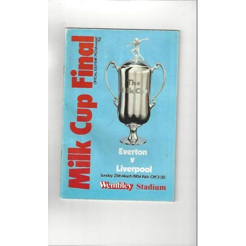 1984 Everton v Liverpool League Cup Final Football Programme
