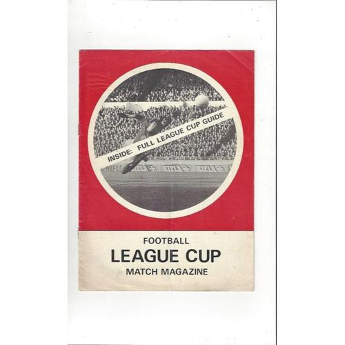 Football League Cup Match Magazine 1970's