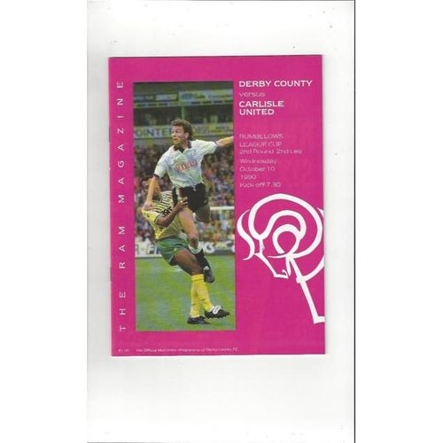Carlisle United Away Football Programmes