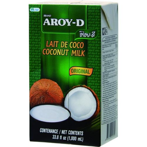 Aroy-D Large U.H.T. Coconut Milk 12x1000ml/case