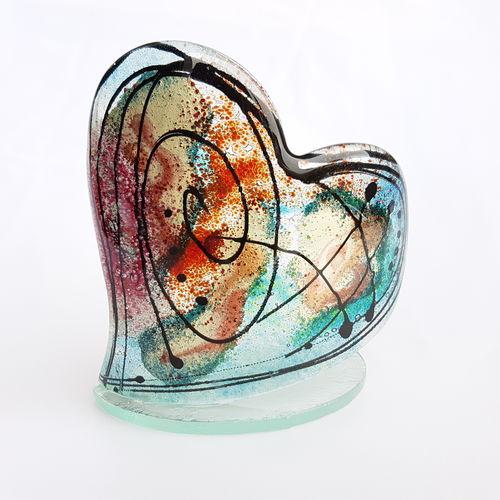 Galaxy Heart Shaped Tealight Holder
