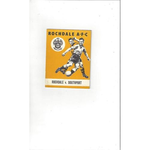 1963/64 Rochdale v Southport Football Programme