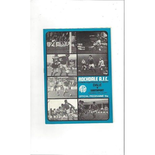 1976/77 Rochdale v Southport Football Programme
