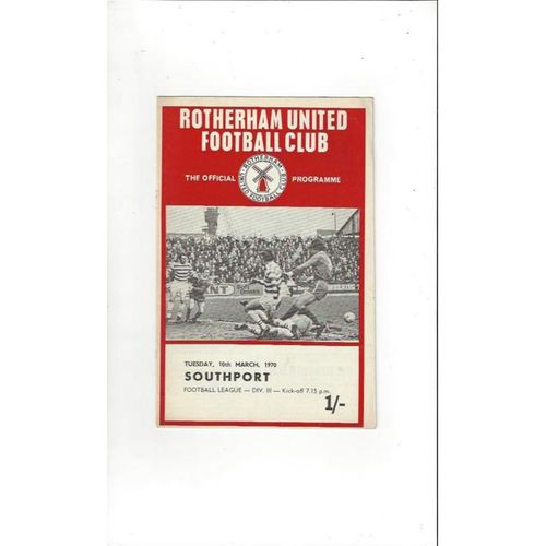 Rotherham United v Southport 1969/70