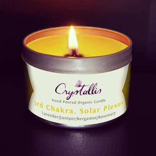 Organic Chakra Candle (Solar Plexus Manipura) 3rd