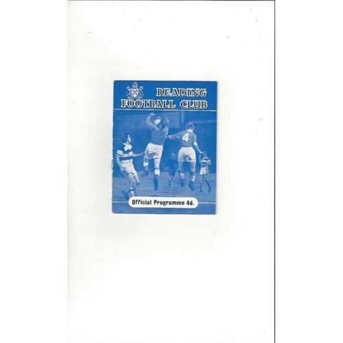1960/61 Reading v Tranmere Rovers Football Programme