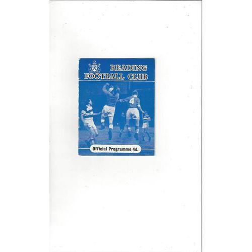 1961/62 Reading v Bristol City Football Programme