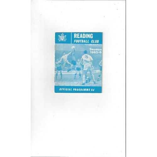 1965/66 Reading v Peterborough Football Programme