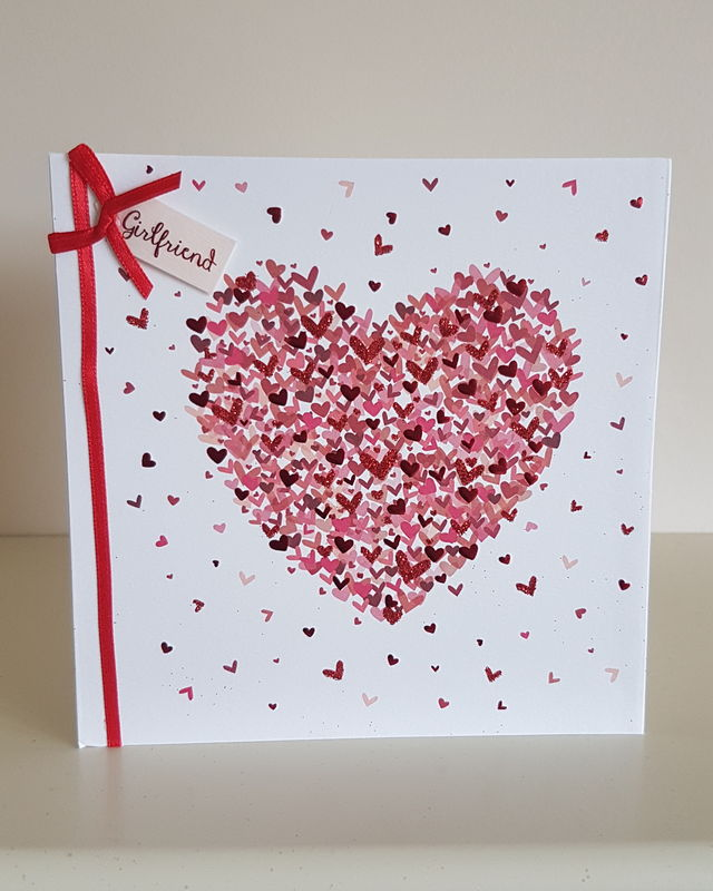 Girlfriend Red Heart Birthday Card Remember That Card Greeting