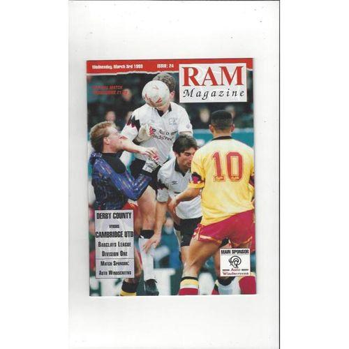 Cambridge United Football Programmes