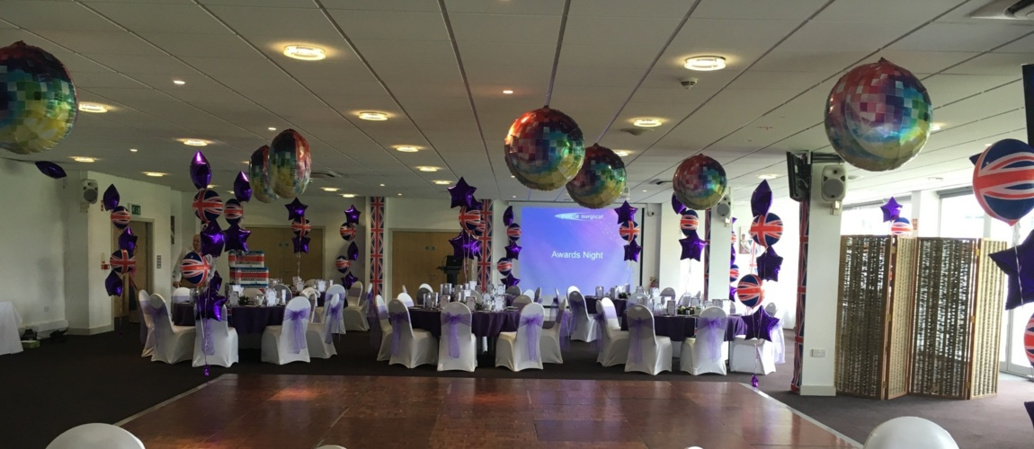 Chair Covers for Weddings Somerset, Table Cloths for hire Somerset, Balloon Printing and Courses Somerset