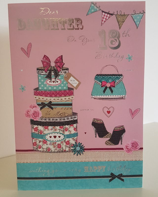 Daughter 18th Birthday Presents Bag Pink Card Remember That Card
